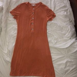 Orange dress with buttons